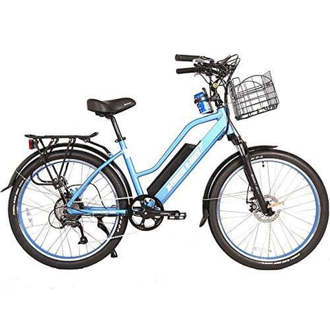 X-Treme Catalina 48 Volt High End Women's Frame Beach Cruiser | Baby Blue