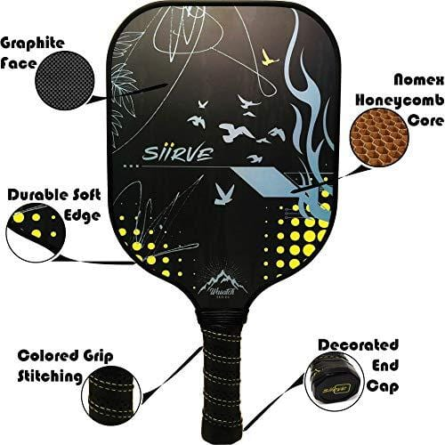Nomex Honeycomb Core Premium Pickle Ball Racket and Case.. USAPA Approved.. Graphite Pickleball Paddle with Cover..