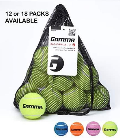 Gamma Bag of Pressureless Tennis Balls - Sturdy & Reuseable Mesh Bag with Drawstring for Easy Transport - Bag-O-Balls (12-Pack of Balls, Yellow) [product _type] Gamma Sports - Ultra Pickleball - The Pickleball Paddle MegaStore