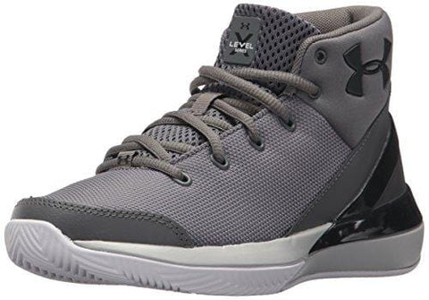Under Armour Boys' Grade School X Level Ninja Basketball Shoe, Graphite (100)/White, 4.5