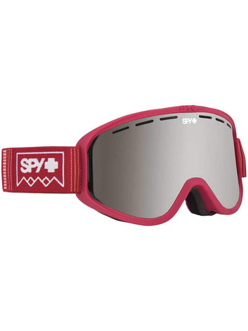 Spy Optic Woot Snow Goggles | Small Medium Sized Ski, Snowboard or Snowmobile Goggle | Clean Design and All Day Comfort | Scoop Vent Tech | Deep Winter Blush