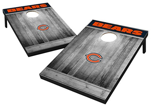 Wild Sports 2'x3' MDF Wood NFL Chicago Bears Cornhole Set - Grey Wood Design
