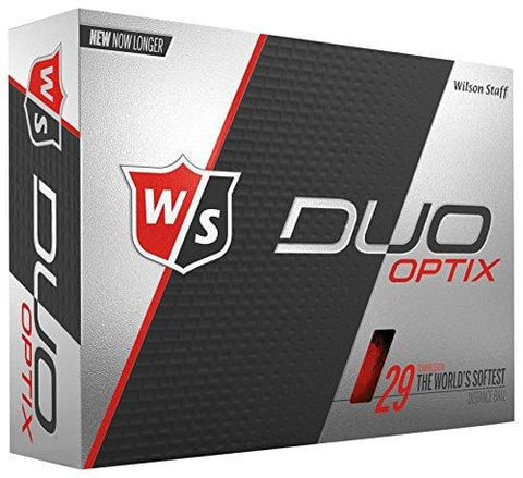 Wilson Staff Duo Soft Optix Golf Balls, Red