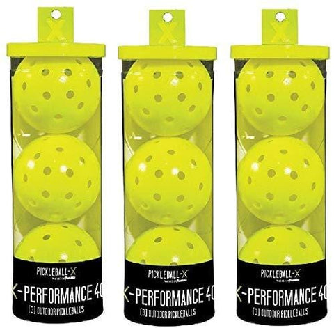Franklin 52821 X-Performance 3 Pack Optic Yellow Pickleballs - Quantity 3