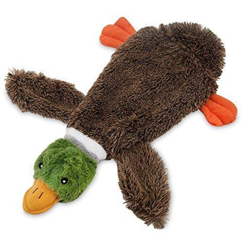 2-in-1 Fun Skin Stuffless Dog Squeaky Toy by Best Pet Supplies - Wild Duck, Small