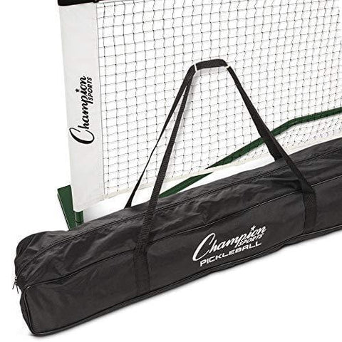 "Champion Sports Portable Pickleball Net: Regulation Size Pickle Ball Net System - Easy Assembly Pickleball Nets with Carry Bag - 22' Wide x 36"" Tall"