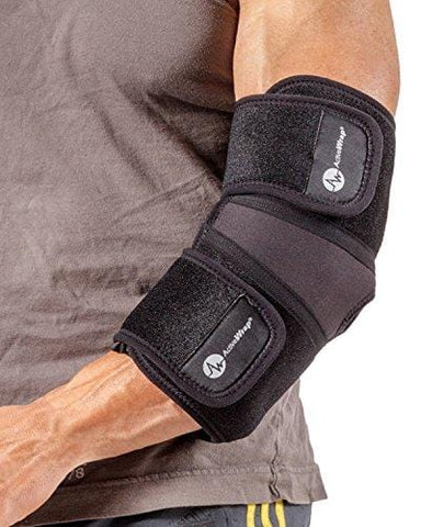 ActiveWrap Elbow Hot/Cold Therapy Wrap - Great For Sprained Elbows, Tendonitis, Arthritis, and Other Elbow Injuries - Hot/Cold Gel Packs Included (L)