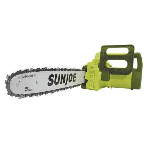 "Sun Joe SWJ700E 16"" 14 Amp Electric Handheld Chain Saw with Kickback Safety Brake"