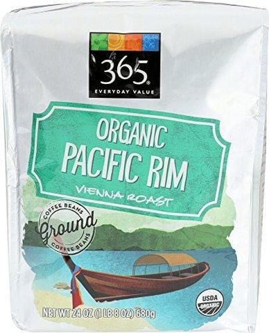 365 Everyday Value, Organic Pacific Rim Vienna Roast Ground Coffee, 24 oz