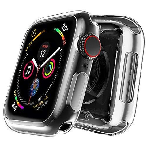 MIZOO Case for Apple Watch Screen Protector, 38mm All Around Soft TPU HD Clear Touch Screen Protector Bumper Cover [2 Pack] Ultra-Thin Case for Series 3/2/1 38mm
