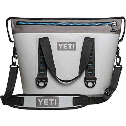 YETI Hopper Two 30 Portable Cooler, Fog Gray/Tahoe Blue (Renewed)