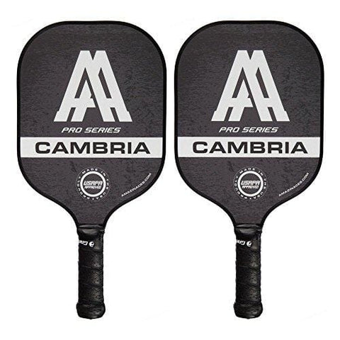 Amazin' Aces 'Cambria' Pickleball Paddles | USAPA Approved | Composite Rackets - Advanced Polymer Core with Polycarbonate Face & Premium Gamma Grip | Set Made in The USA | (Black Set)