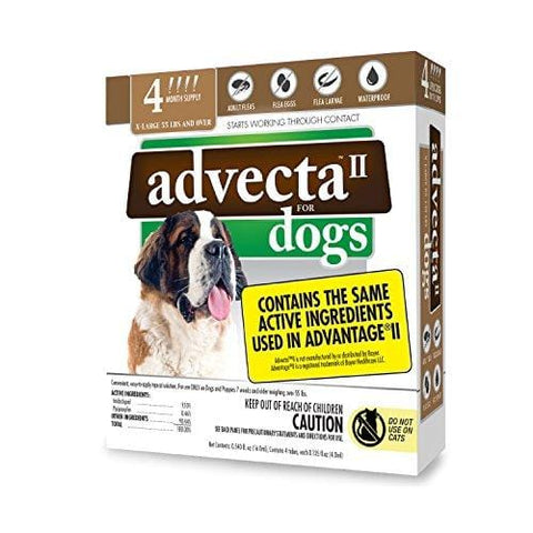 Advecta II Flea Treatment - Flea and Lice Prevention for Dogs, 4 Month Supply