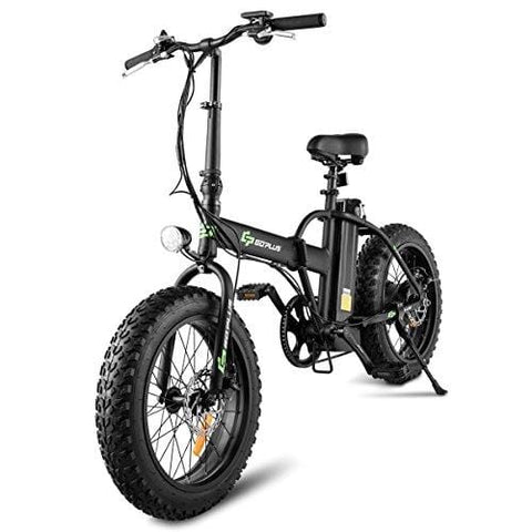 Goplus Folding Electric Bicycle 20'' Fat Tire Ebike 48V10AH Lithium Battery 500W Electric Bike for Adults with LCD Display and Shimano 7 Speed Gear