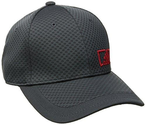 adidas Men's Amplifier Stretch Fit Structured Cap, Night Grey/Scarlet, Large/X-Large [product _type] adidas - Ultra Pickleball - The Pickleball Paddle MegaStore