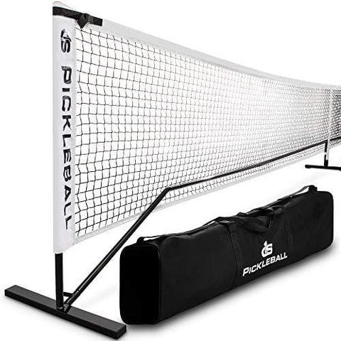 Day 1 Sports Portable Pickleball Net with Tube Steel Frame, Carry Bag Professional, Tournament Nets - Durable Pickle Ball Equipment Set and Accessories - Outdoor or Indoor Play, Regulation Size