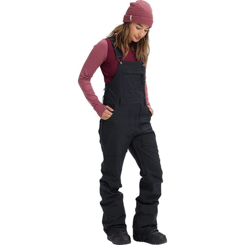 Burton Womens Avalon Bib Pant, True Black New, Large