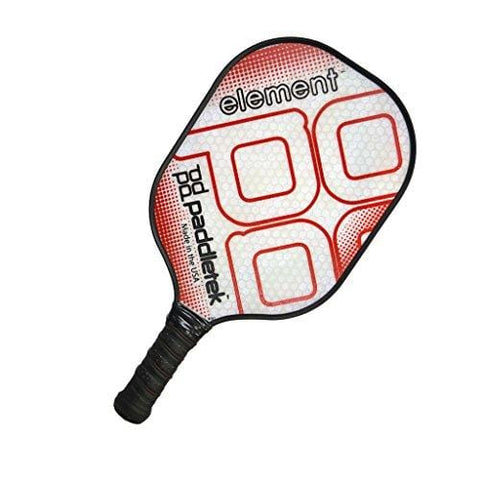 PaddleTek Element Pickleball Paddle, ProPolyCore Honeycomb Composite (red)