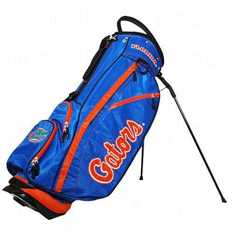 Team Golf NCAA Florida Gators Fairway Golf Stand Bag, Lightweight, 14-way Top, Spring Action Stand, Insulated Cooler Pocket, Padded Strap, Umbrella Holder & Removable Rain Hood