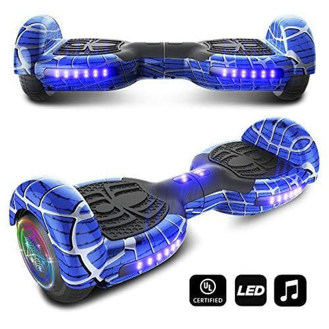 CHO Spider Wheels Series Hoverboard UL2272 Certified Hover Board with 6.5 inch Wheels Electric Scooter Smart Self Balancing Wheels (Blue)