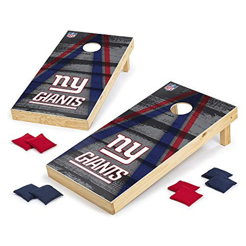 Wild Sports NFL College Cornhole Set 2' x 4' Foot, Grey Vintage Triangle Design - Tournament Series