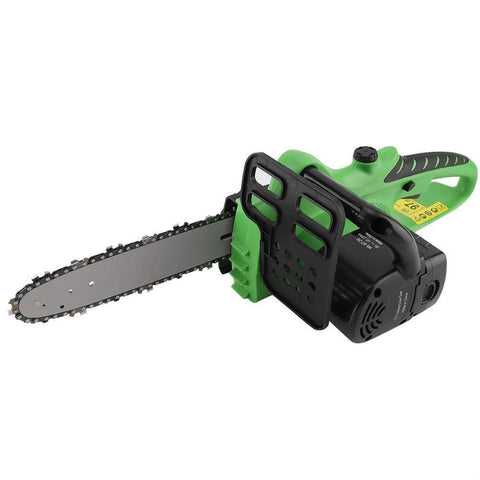 Yosooo 10 ' 18V Cordless Chainsaw, Lithium-ion Cordless Power Tool Electric Chainsaw Chain Garden(US 110V)