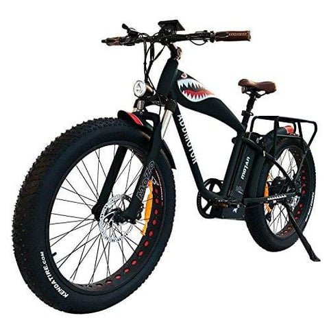 Addmotor MOTAN 1000 Watt Electric Bicycle 14.5Ah Lithium Battery Electric Cruiser Electric Bike 26 Inch Fat Tire Ebike Front Fork Suspension Mountain Pedal Assist M-5500 for Adults Men (Black)
