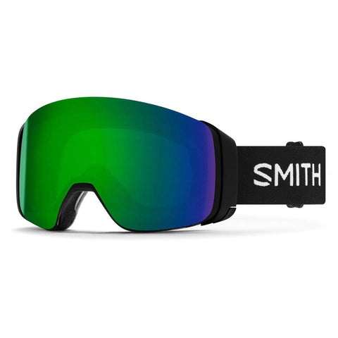 Smith Optics 4D Mag Adult Snowmobile Goggles - Black/Chromapop Sun Green Mirror/One Size