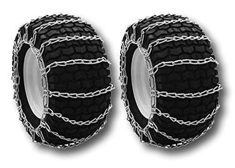 "OakTen Set of Two Snow Tire Chains for Lawn Tractor Snowblowers Repl Cub Cadet MTD Troy Bilt 490-241-0022 (18""x9.50""x8"", 19""x9.50""x8"")"