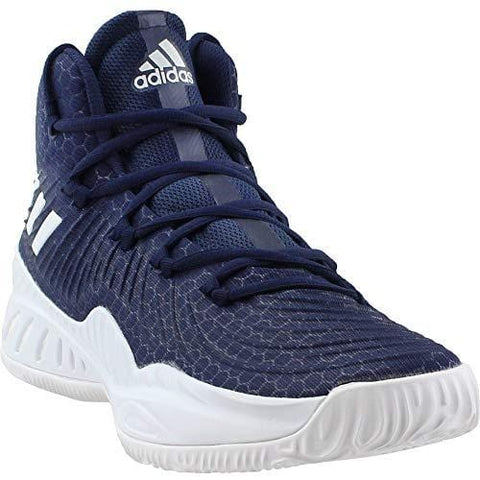 adidas Crazy Explosive 2017 NBA/NCAA Shoe - Men's Basketball 13.5 Dark Navy/White