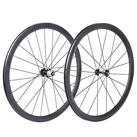 bikewish Bicycle Road Racing Wheels 700c Carbon Clincher Wheelset with 38mm UD Matte