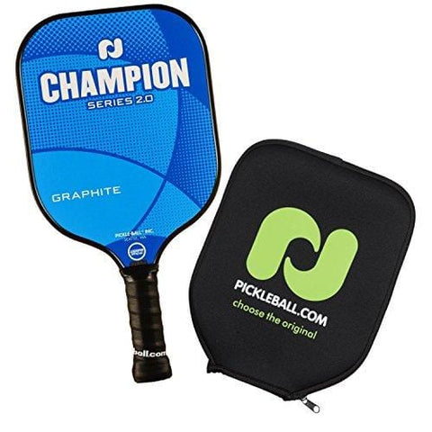 Champion Graphite Pickleball Paddle, Sets & Bundles by Pickleball, Inc. | Nomex Composite Honeycomb Core & Graphite Face | USAPA Approved (1 Paddle (Blue) + Cover) [product _type] Pickle-Ball - Ultra Pickleball - The Pickleball Paddle MegaStore