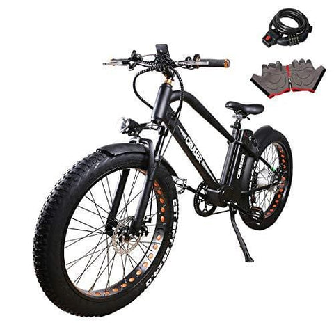 "NAKTO 26"" 500W Electric Bike for Adults with 48V 12AH Large Capacity Battery, 2019 Newest Mountain E-Bike with 1 Year Warranty, Shimano 6 Speed Gear"
