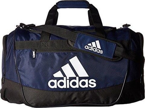 adidas Defender III medium duffel Bag, Collegiate Blue/Black/White, One Size
