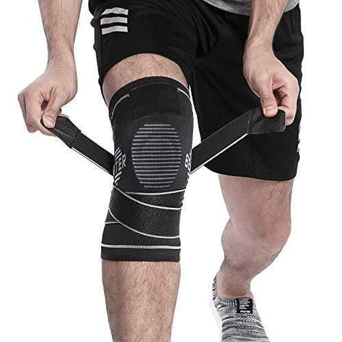 BERTER Knee Brace for Men Women - Compression Sleeve Non-Slip for Running, Hiking, Soccer, Basketball for Meniscus Tear Arthritis ACL Single Wrap (Silicone Gel, X-Large)