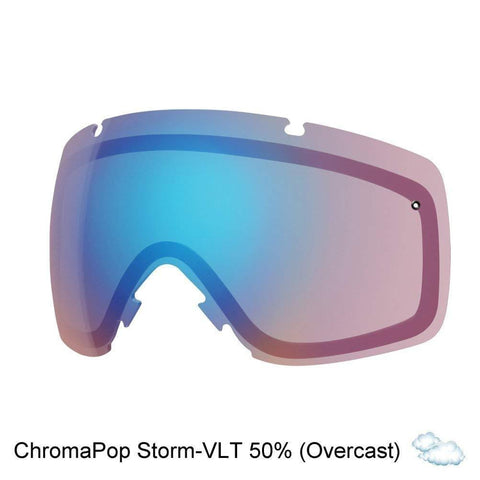 Smith Optics I/O Adult Replacement Lens Snow Goggles Accessories - Chromapop Storm Rose Flash/One Size