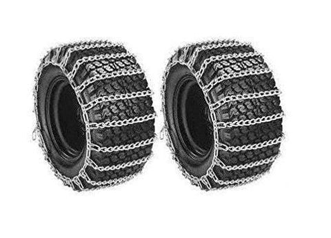 The ROP Shop | New Pair 2 Link TIRE Chains 16x6.50x8 for Garden Tractors/Riders/Snowblowers