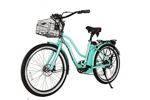 X-Treme Scooters Malibu Elite Step Through Beach Cruiser eBike, Long Range Electric Bike (Teal)