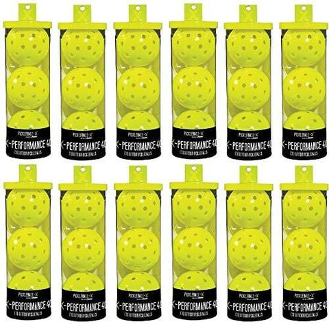 Franklin 52821 X-Performance 3 Pack Optic Yellow Pickleballs - Quantity 12