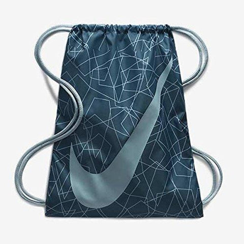 Nike Unisex Graphic Youth Gym Sack, NOISE AQUA/OCEAN BLISS/OCEAN BLISS, OS