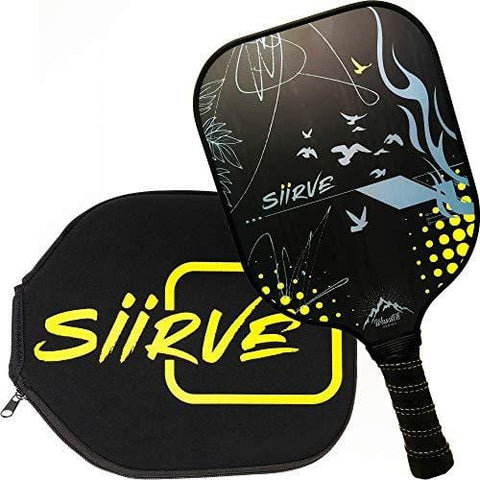 Graphite Pickleball Paddle with Cover | USAPA Approved | Premium Pickle Ball Racket and Case | Nomex Honeycomb Core (Flight)