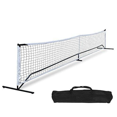 F2C Universal Portable Recreational 22FT Pickleball Net Set Soccer Tennis Badminton Net Game Set System W/Metal Frame Stand and A Carrying Bag, Driveway, Bench, Indoor Outdoor Court