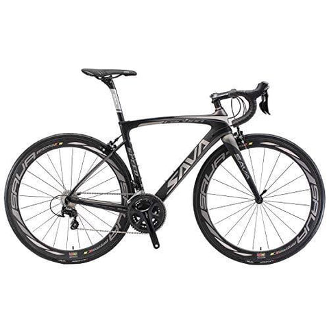 SAVADECK Herd 6.0 T800 Carbon Fiber 700C Road Bike Shimano 105 5800 Groupset 22 Speed Carbon Wheelset Seatpost Fork Ultra-Light 18.3 lbs Bicycle Black Grey 48cm