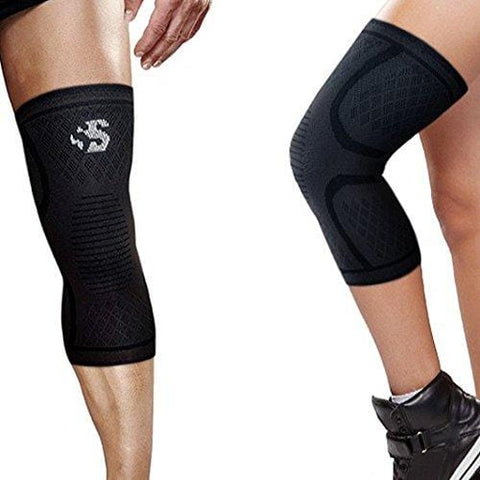 Best Strength Knee Compression Sleeve - Strength Sleeves Brand Knee Support Guaranteed #1 Recovery Brace for Knees Wrap for Leg Pain, Patella Knee, Arthritis, Running, Weightlifting, Workout