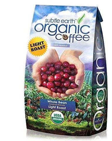 5LB Cafe Don Pablo Subtle Earth Organic Gourmet Coffee - Light Roast - Whole Bean Coffee - USDA Certified Organic Arabica Coffee - (5 lb) Bag