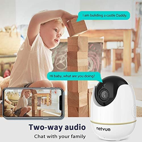 1080P Pet Camera, Home Camera 2 Way Audio, Baby Monitor Night Vision,  Motion Detection, Compatible with Alexa Echo Show, Indoor Camera, Security