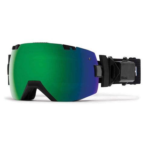 Smith Optics Adult I/OX Turbo Fan Snow Goggles Black Frame/ChromaPop Sun Green Mirror/ChromaPop Storm Rose Flash