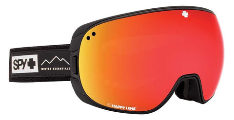 Spy Optic Bravo Asian Fit Essential Black Happy Gray Green W/Red Spectra+Happy Yellow One Size