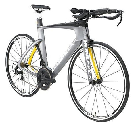 Diamondback Bicycles Serios S Ready Ride Complete Carbon Triathlon/Time Trial Bike, 54/Medium, Silver