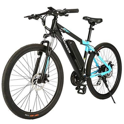 ANCHEER Electric Mountain Bike 27.5'' Electric Bicycle, 350W Ebike with Removable 36V 10.4Ah Lithium-Ion Battery for Adults, Shimano 24 Speed and LCD Display (Black&Blue)